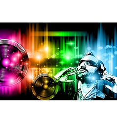Music Club background for disco dance flyer vector image vector image