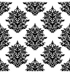 Ornate seamless pattern with foliate arabesque vector image vector image