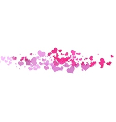 Pink hearts with white background vector image