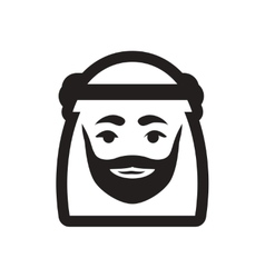 Style black and white icon arab emirates vector