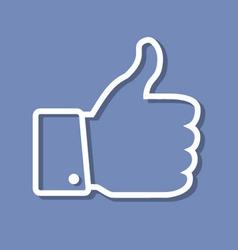 Thumb Up applique vector image