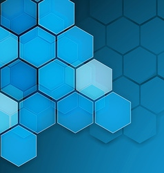 Abstract blue background hexagon vector