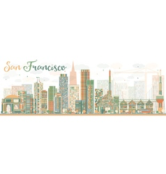 Abstract San Francisco Skyline vector