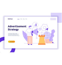 Advertisement strategy web page banner vector