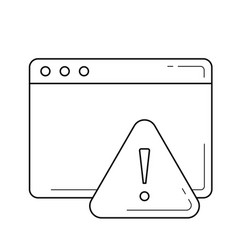 alert window line icon vector image