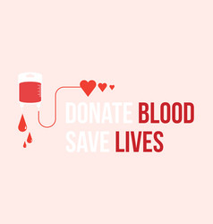Background donate blood save lives vector