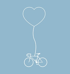 bicycle with heart shape vector image