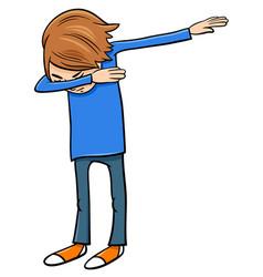 Boy doing dab cartoon vector