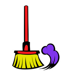 brush for a floor icon icon cartoon vector image