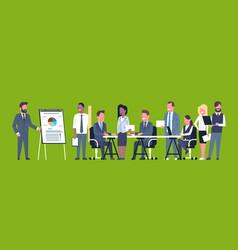 business presentation concept team brainstorming vector image