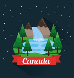 Canada country symbols vector