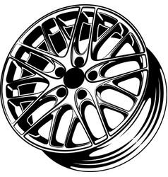 Car wheel 9 vector