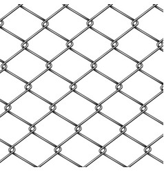 chain-link fence pattern 3d realistic vector image