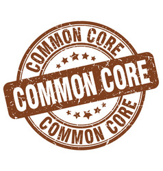 Common core brown grunge stamp vector