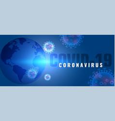 Coronavirus covid-19 global pandemic disease vector