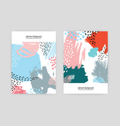 creative covers with abstract pattern hand drawn vector image