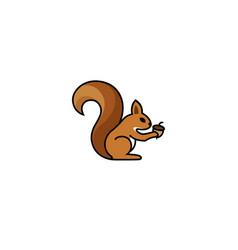 creative squirrel logo vector image
