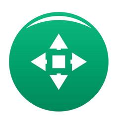 Cursor displacement icon green vector