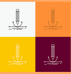 design pen graphic draw icon over various vector image