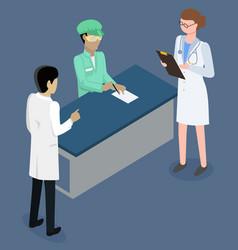 Doctors consultation reception room hospital vector