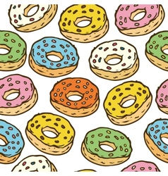 Donuts Seamles Pattern vector