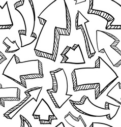 doodle arrows pattern seamless vector image
