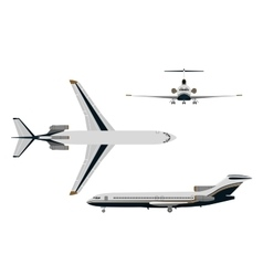 Drawing plane on a white background vector