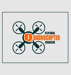 drone quadrocopter icon vector image