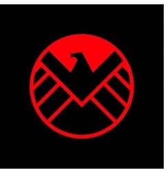 Eagle logo emblem flat style vector