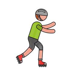 Ethlete practicing skate avatar vector