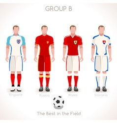 EURO 2016 GROUP B Championship vector image vector image