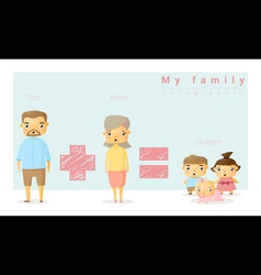 Family background and infographic 1 vector