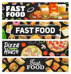 fast food takeaway meal banners cafe menu vector image