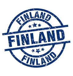 Finland blue round grunge stamp vector