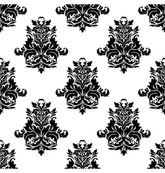 Foliate arabesque motif seamless pattern vector