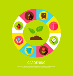 Gardening concept vector