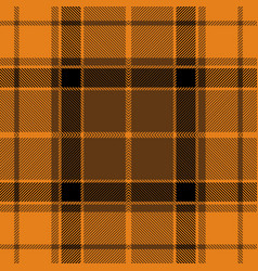 Halloween orange tartan plaid seamless pattern vector