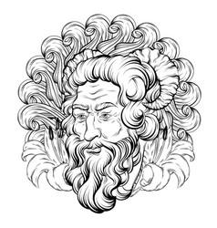 Hand drawn satyr isolated vector