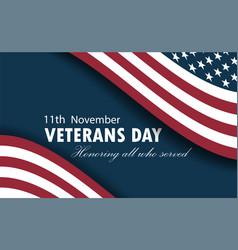 happy veterans day ill vector image