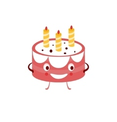 Humanized Cake Funny vector