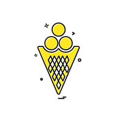icecream icon design vector image