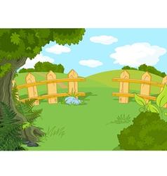 Idyllic landscape vector image