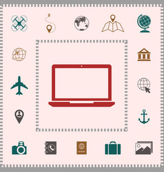 laptop icon symbol elements for your design vector image