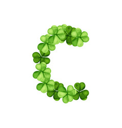 Letter c clover ornament vector