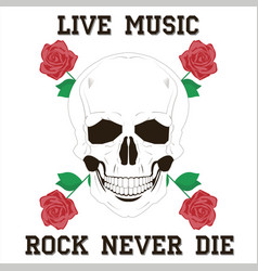Live music rock vector
