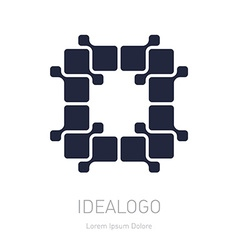 logo design element or icon Abstract technology vector image