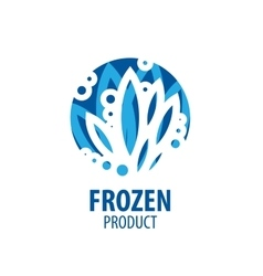 logo for frozen products vector image