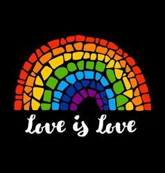 Mosaic rainbow vector image