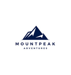 mount peak mountain logo icon vector image