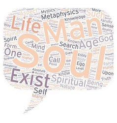 Mystery of the soul part text background wordcloud vector